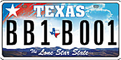 Image of Lone Star Texas license plate