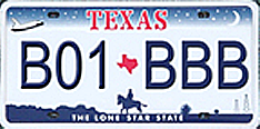 Image of Panoramic Texas license plate